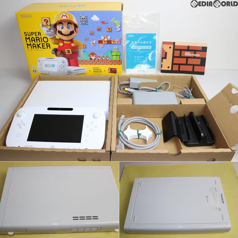 【中古】[訳あり][本体][WiiU]Wii U スーパーマリオメーカー セット(Wii Uプレミアムセット shiro/シロ/白)(WUP-S-WAHA)(20150910)