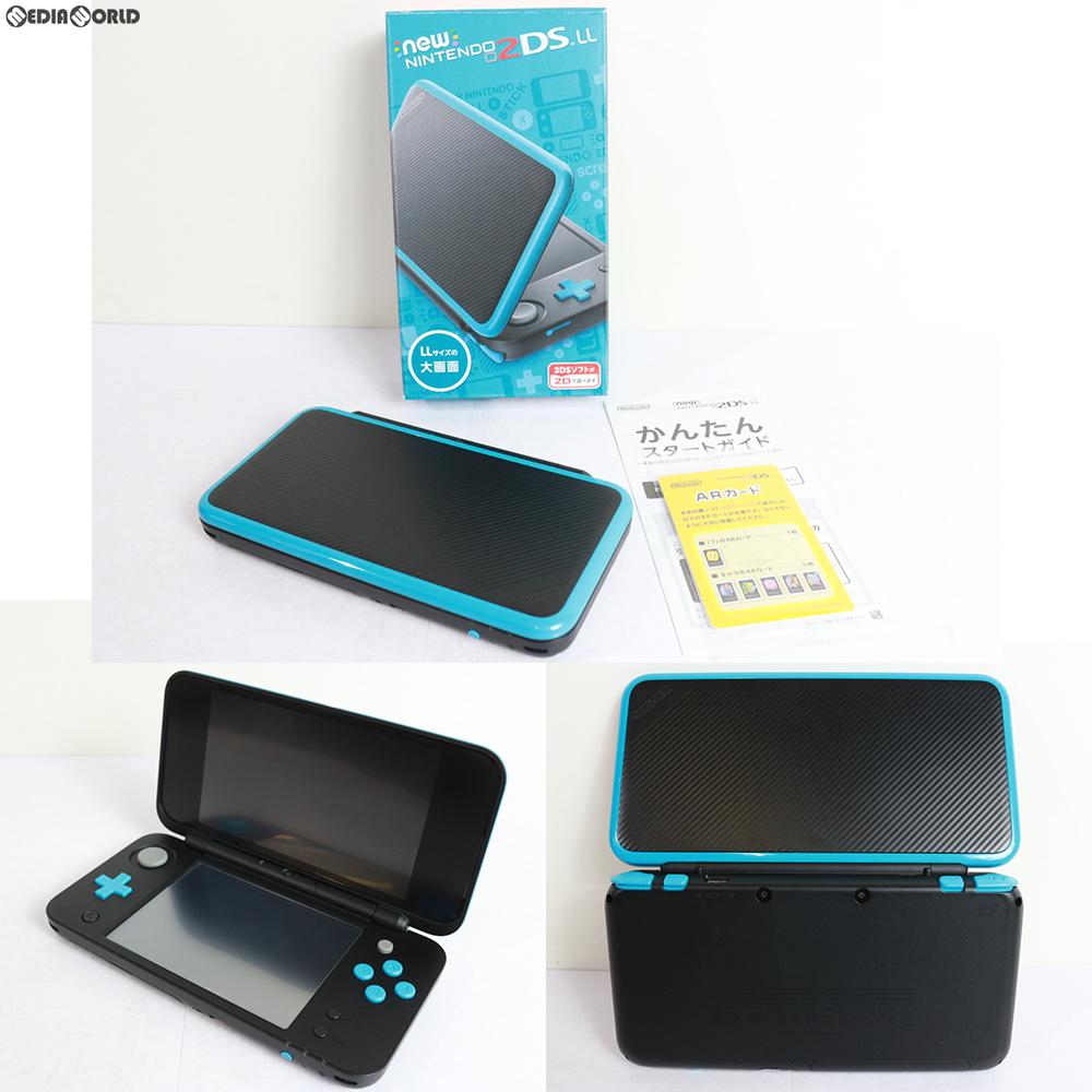 【中古】【訳あり】[本体][3DS]Newニンテンドー2DS LL ブラック×ターコイズ(JAN-S-BAAA)(20170713)