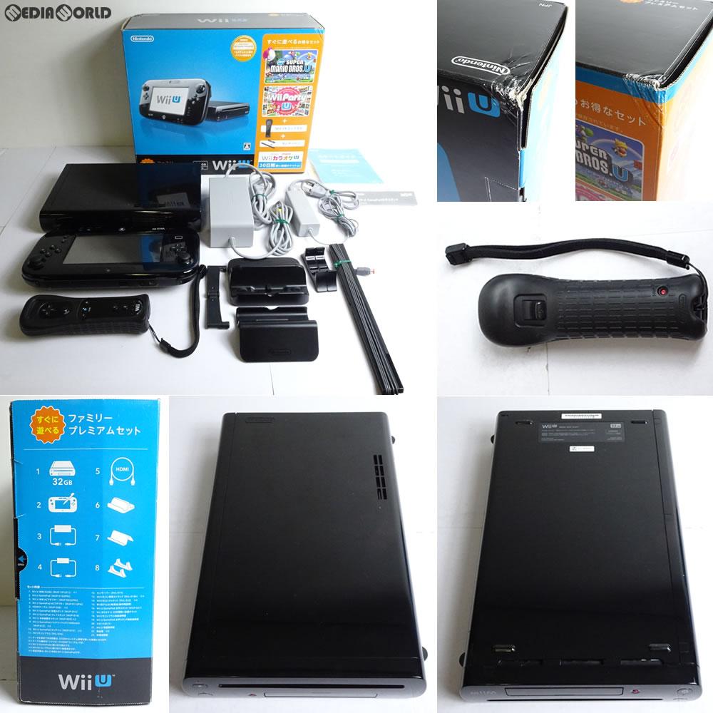 【中古 U】[訳あり][本体][WiiU]Wii U すぐに遊べるファミリープレミアムセット(kuro/クロ/黒)(WUP-S-KAFS)(20131031), 加須市:02b5bb46 --- jphupkens.be
