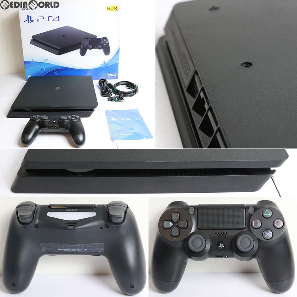 【中古】[訳あり][本体][PS4]プレイステーション4 PlayStation4 ジェット・ブラック 500GB(CUH-2100AB01)(20170724)