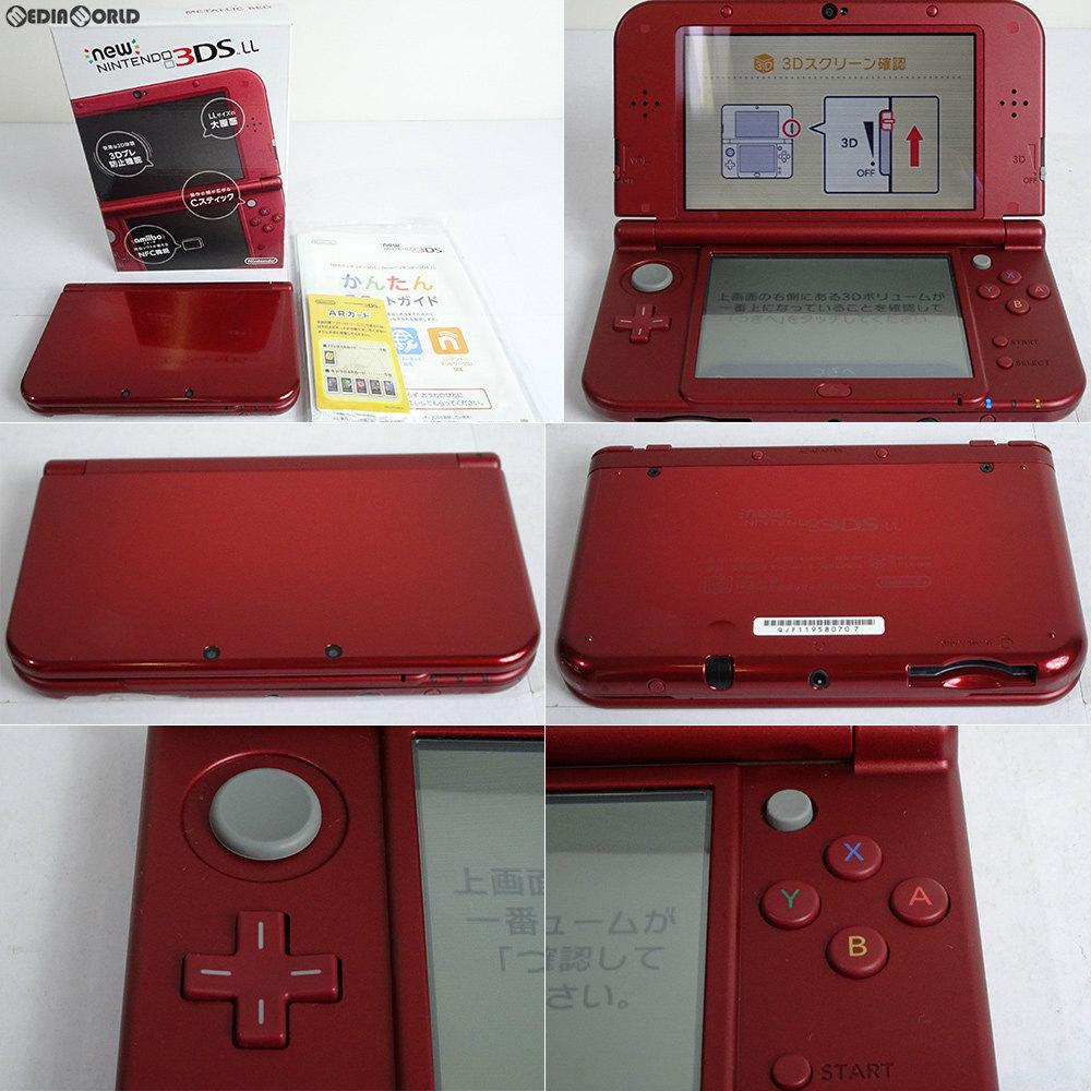 【中古】[訳あり][本体][3DS]Newニンテンドー3DS LL メタリックレッド(RED-S-RAAA)(20150827)