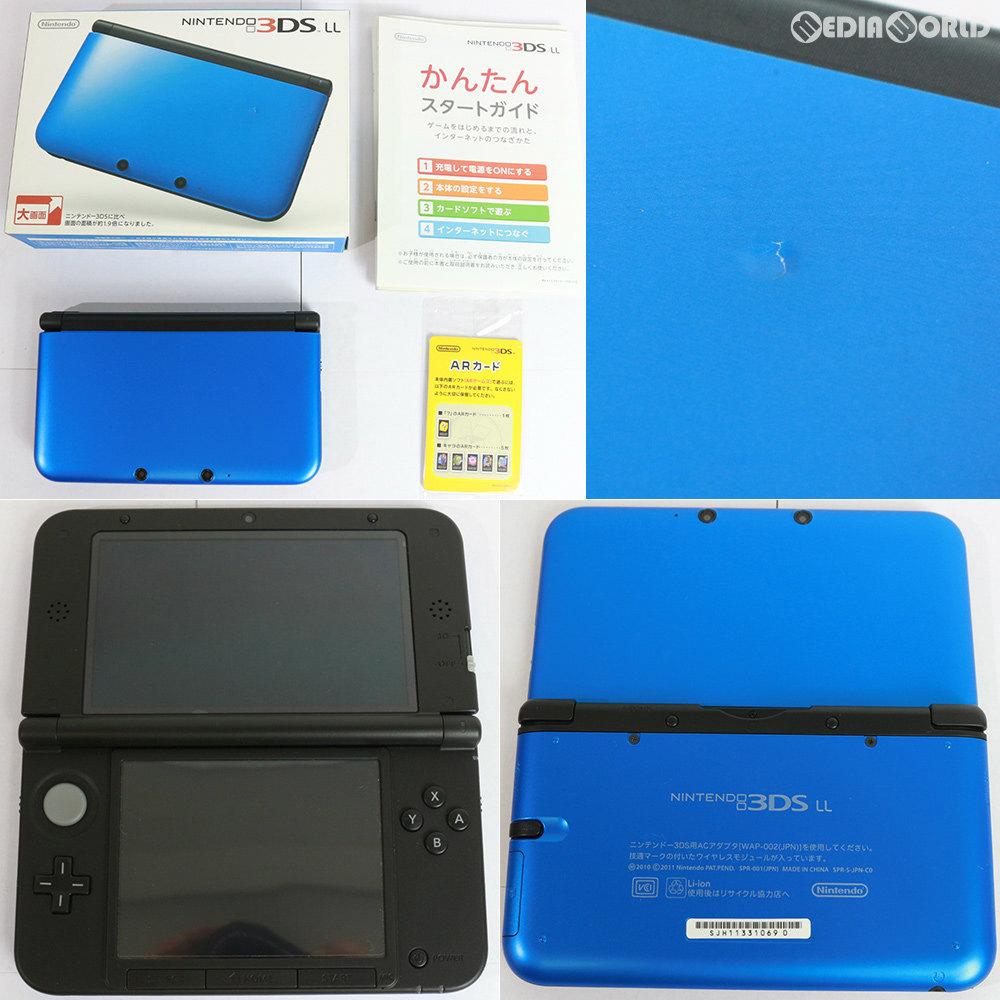 【中古】【訳あり】[本体][3DS]ニンテンドー3DS LL ブルー×ブラック(SPR-S-BAKK)(20121011)