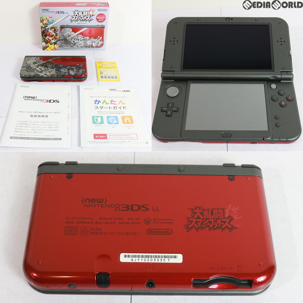 【中古】【訳あり】[本体][3DS]Newニンテンドー3DS LL 大乱闘スマッシュブラザーズ エディション(RED-S-RBAA)(20141108)