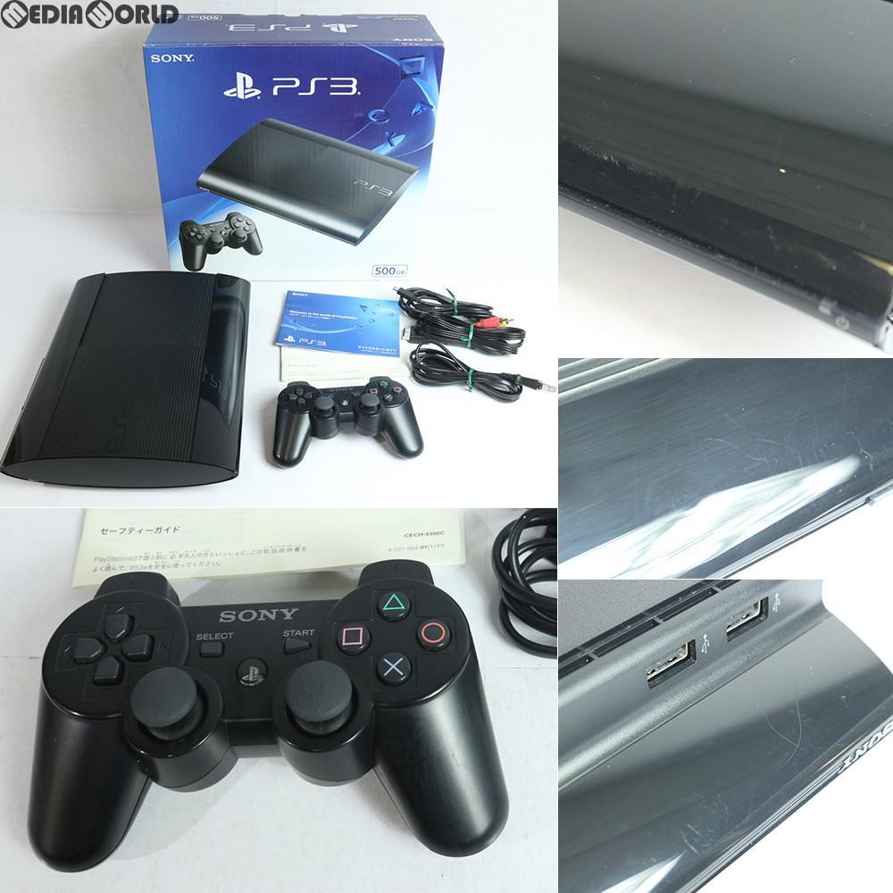 【中古】【訳あり】[本体][PS3]プレイステーション3 PlayStation3 HDD500GB チャコール・ブラック(CECH-4300C)(20140828)