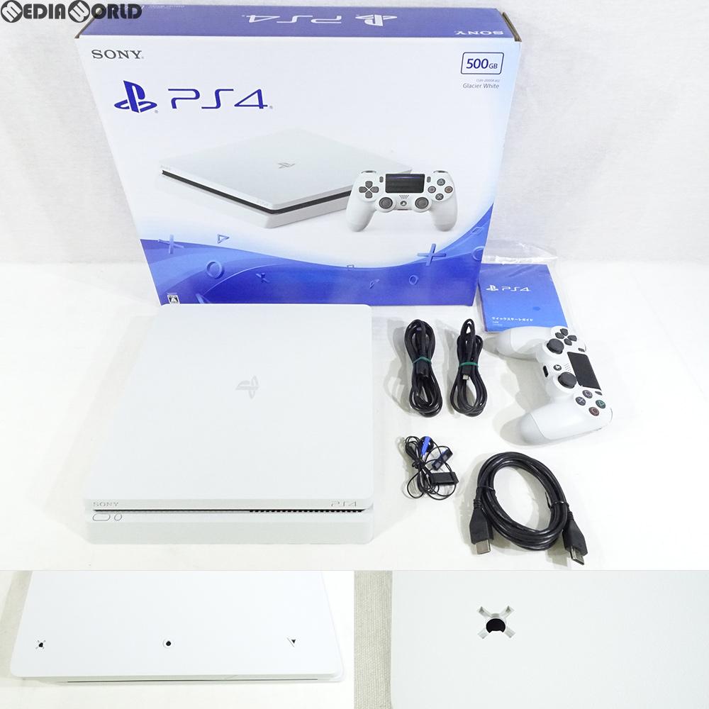 【中古】【訳あり】[本体][PS4]プレイステーション4 PlayStation4 500GB グレイシャー・ホワイト(CUH-2000AB02)(20170223)