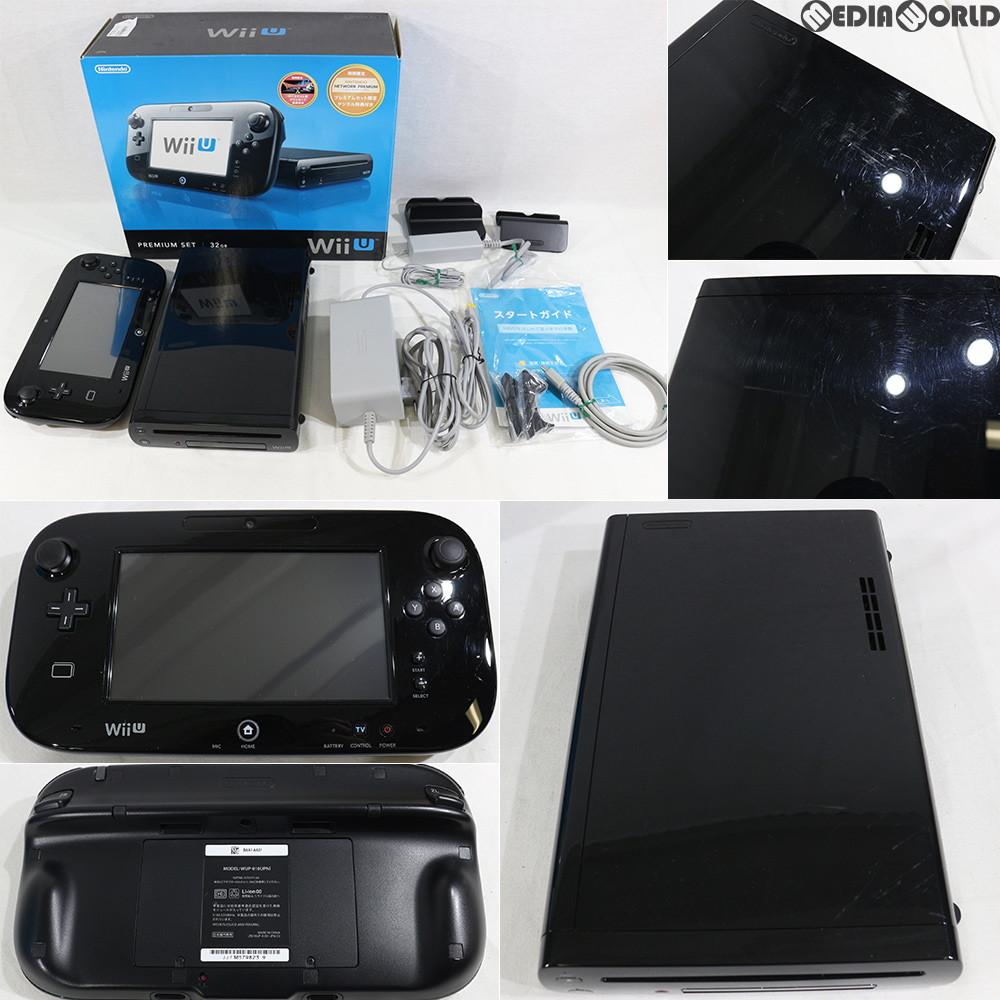 【中古】【訳あり】[本体][WiiU]Wii U プレミアムセット 黒 PREMIUM SET kuro(本体メモリー32GB)(WUP-S-KAFC)(20121208)