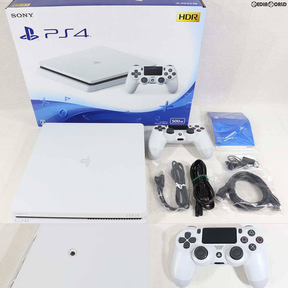 【中古】【訳あり】[本体][PS4]プレイステーション4 PlayStation4 グレイシャー・ホワイト 500GB(CUH-2100AB02)(20170729)