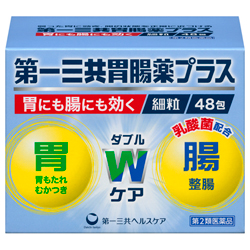 【第2類医薬品】【送料無料まとめ買い6個セット】【毎日ポイント2倍】【第一三共ヘルスケア】第一三共胃腸薬プラス細粒 48包 ※お取り寄せになる場合もございます