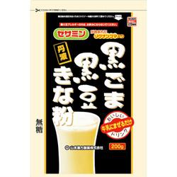 無料サンプルOK 2020モデル 山本漢方製薬 黒ごま黒豆きな粉 計量タイプ 200g ※お取り寄せ商品