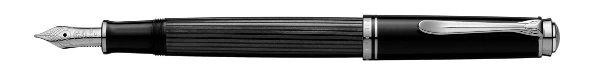 【毎日ポイント2倍】【ペリカン】スーベレーン M405 万年筆 ブラックストライプ EF(極細字) ※お取り寄せ商品