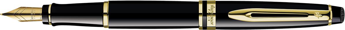 【毎日ポイント2倍】【ウォーターマン】エキスパート エッセンシャル ブラック GT 万年筆 F(細字) ※お取り寄せ商品