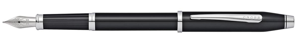 【毎日ポイント2倍】【クロス】センチュリーII ブラックラッカーロジウムプレート NAT0086-102 万年筆 M(中字)ステンレスペン先 ※お取り寄せ商品