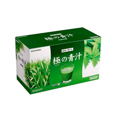 煎茶と抹茶の上品な味わい サントリー 極の青汁 90包