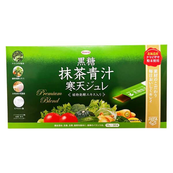 【D会員4倍】コーワ 黒糖抹茶青汁寒天ジュレ 30包 3箱セット