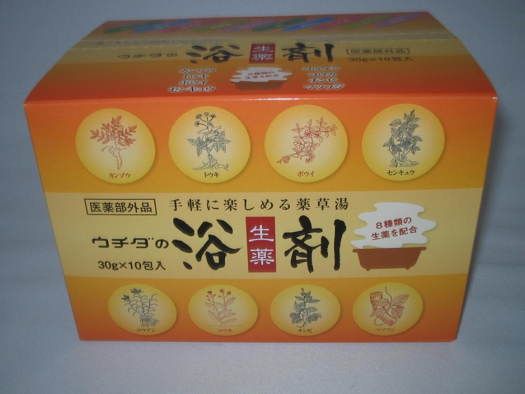 【送料無料 12箱セット+6袋付 】 ウチダの浴剤【30g×10包入】×12