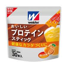【送料無料】14本×10 おいしいプロテインスティック オレンジ味 14本×10