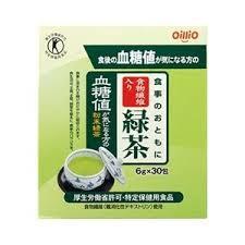 【特定保健用食品】6g×30包×6 送料無料 食事のおともに 食物繊維入り 緑茶 6g×30包×6