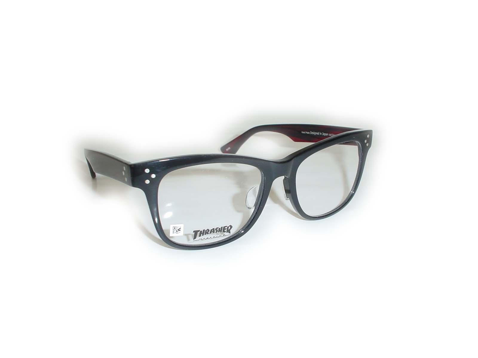 ★THRASHER(スラッシャー)★80353□18-143COL.ブラック レッド超薄型非球面レンズ付
