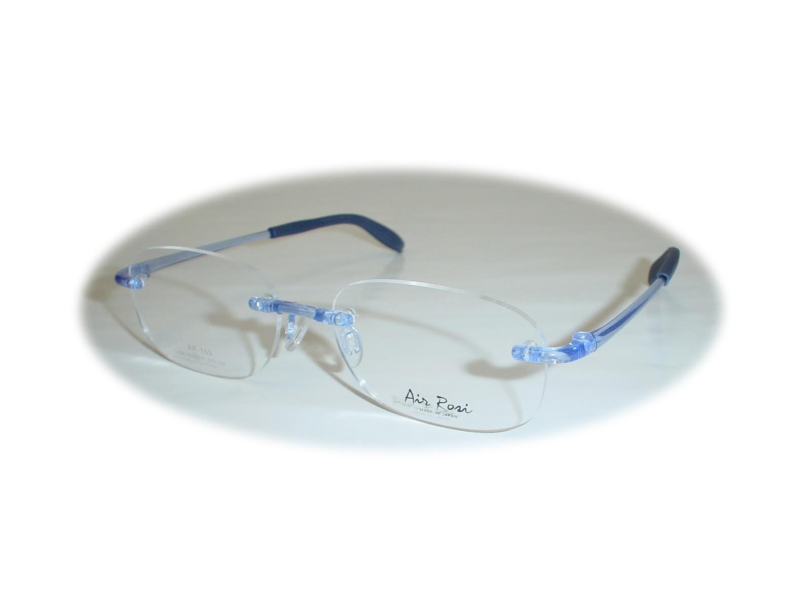 (超薄型非球面レンズ付き!)  Air Rosi(エアロジ) レンズ型AR103  53□17-137 カラー ブルーグロス(艶有)