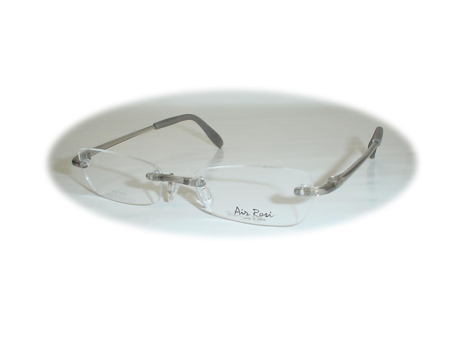 (超薄型非球面レンズ付き!)  Air Rosi(エアロジ) レンズ型AR109  53□17-137 カラー グレーグロス(艶有)
