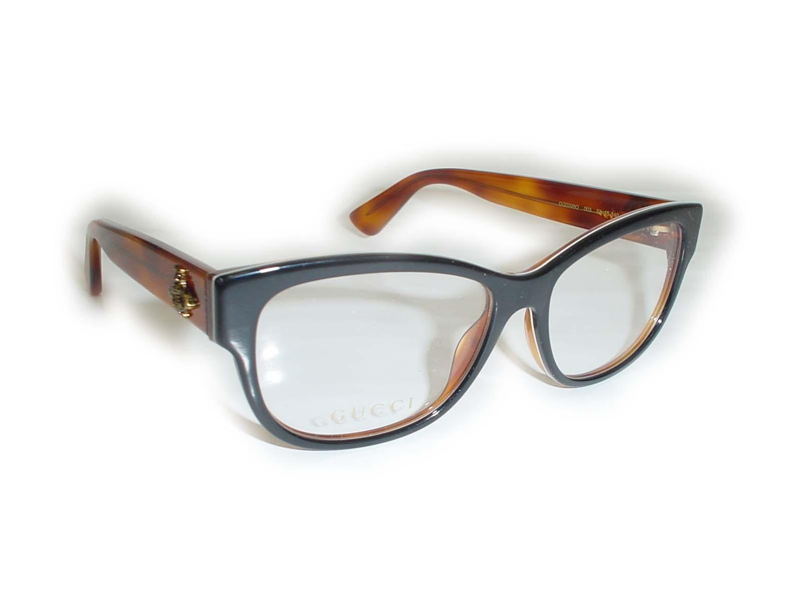 ★★GUCCI★★ GG0098O 53□15-140 003 BK BR超薄型非球面レンズ付グッチ メガネ
