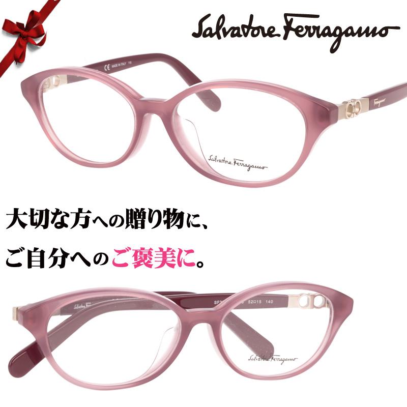 Salvatore Ferragamo/sf2819a-639/ピンク/52□15/ブランド眼鏡/ブランド 眼鏡 女性 プレゼントに最適/フェラガモ メガネフレーム/ガンチョ ガンチーニ ヴァラ バラ