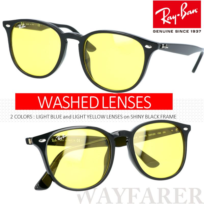 レイバン RB4259F 601 85 60185 53□20 WASHED LENS ライトカラーサングラス 薄いカラーレンズ WAYFARER wayfarer rayban  正規品  LUXOTTICA  Made In Italy  rb4259f