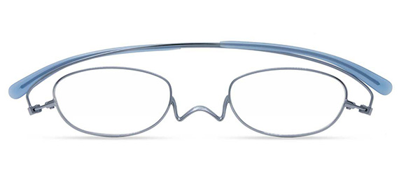 スマホ・パソコン使用時にオススメ シンプル シニアグラス ペーパーグラス Nスタ フラット オーバル ライトブルー +1.50シニアグラス リーディンググラス クリックリーダー 読書用 おしゃれ メンズ 男性 レディース 女性 コンパクト 携帯用