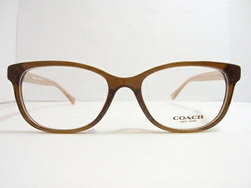 COACH(コーチ) メガネ HC 6072F col.5328 (BrownGlitter/CrystalLtBrown) 52mm COACH コーチ レディース 女性 プレゼント 記念日 贈り物に。