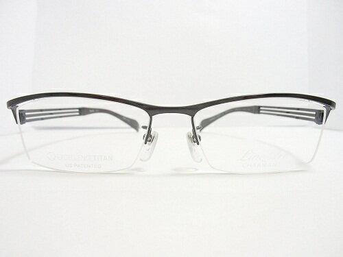 LineArt CHARMANT (ラインアート シャルマン)  フレーム XL1028  col.GR  54mm  【料金そのままで伊達メガネ・度付きメガネも対応可】 紳士 アイウェア メガネフレーム