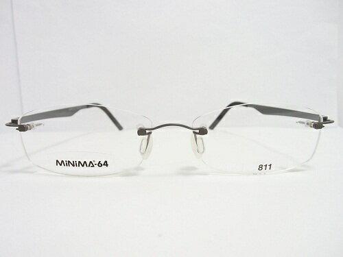 MiNiMA(ミニマ) メガネ 64-F811 49mm  メンズ レディース ビジネス プレゼント 記念日 贈り物に。