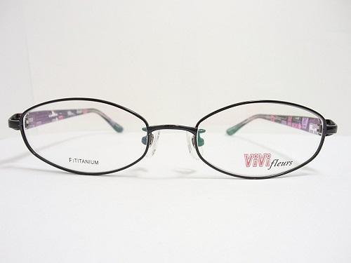 ViVi fleurs(ヴィヴィフルール) メガネ VF-6126 col.1 50mm レディース プレゼントに。