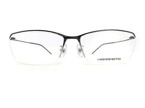 HAMAMOTO メガネ HT-126 col.1 57mm 日本製 ハマモト メンズ レディース 眼鏡 フレーム 鯖江 プレゼント・贈り物に。