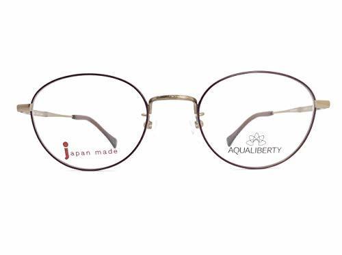 AQUALIBERTY(アクアリバティ) メガネ AQ22501 col.GD 48mm 日本製【料金そのままで伊達メガネ・度付きメガネも対応可】