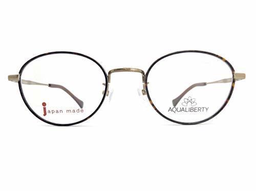 AQUALIBERTY(アクアリバティ) メガネ AQ22502 col.DA 47mm 日本製【料金そのままで伊達メガネ・度付きメガネも対応可】