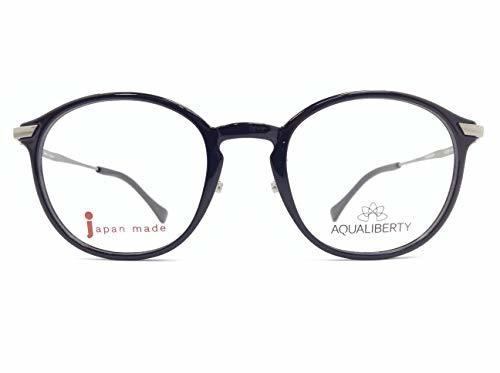 AQUALIBERTY(アクアリバティ) メガネ AQ22504 col.BK 48mm 日本製 【料金そのままで伊達メガネ・度付きメガネも対応可】