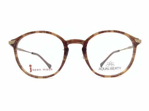 AQUALIBERTY(アクアリバティ) メガネ AQ22504 col.DB 48mm 日本製 【料金そのままで伊達メガネ・度付きメガネも対応可】
