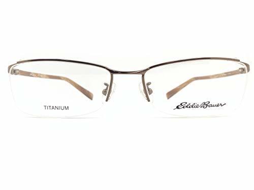 EddieBauer(エディーバウアー) メガネ EB27303E col.BR 55mm 【料金そのままで伊達メガネ・度付きメガネも対応可】 紳士 アイウェア メガネフレーム