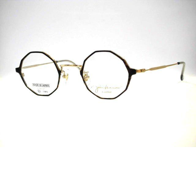 ジョンレノンメガネ 限定生産カットリム丸メガネ 多角形丸眼鏡・JL202L