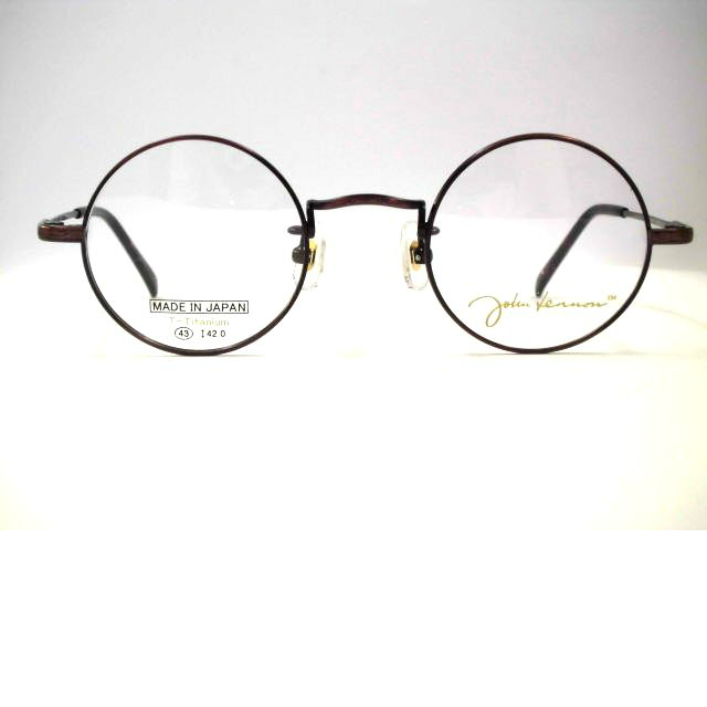 ジョンレノン 真円丸メガネ[まん丸正円丸めがね]日本製チタン・JL1052
