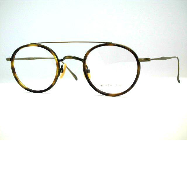 モダンにセルを使用しない日本製 小さめアイビーボストン眼鏡 [コンビツーブリッジボストンメガネ]アコースティックライン・AL025A