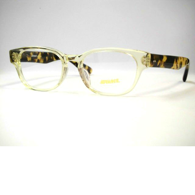 日本製 ウエリントン太いセルメガネ レトロめがね [セルロイド眼鏡フレーム] アドバンス・5019