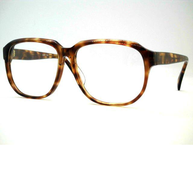 日本製 セルウエリントン大きめフレーム[ヴィンテージメガネ・特大クラシック眼鏡] EVER・762