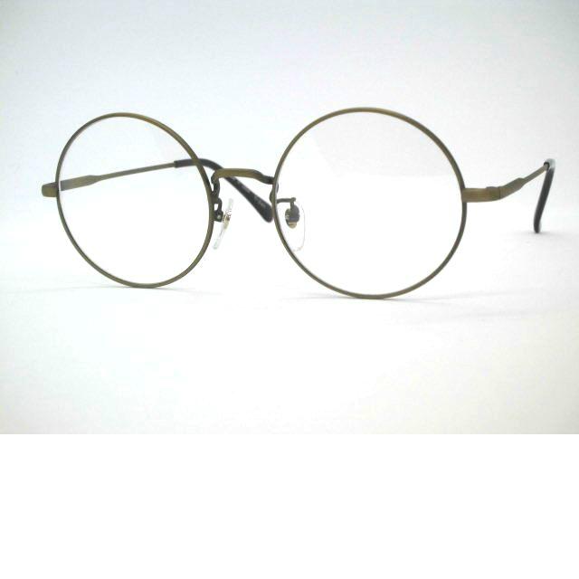 日本製メタル眼鏡・大きい丸メガネ 大きめ・T265