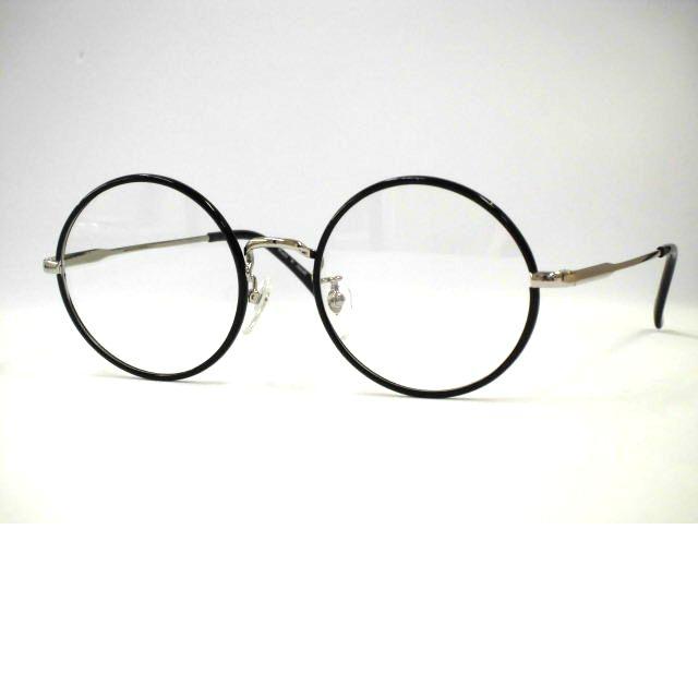 日本製メタル眼鏡・セル巻き大きい丸メガネ 大きめセル巻き丸めがね・T265S