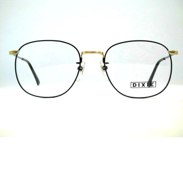 日本製 大きめ七宝ウエリントンメガネ ビンテージ七宝スクエアフレーム DIXIE・194