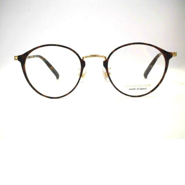 日本製 ボストン眼鏡ハンドメイドアイテム 太めボストンメガネ チタン・NOVA・3047