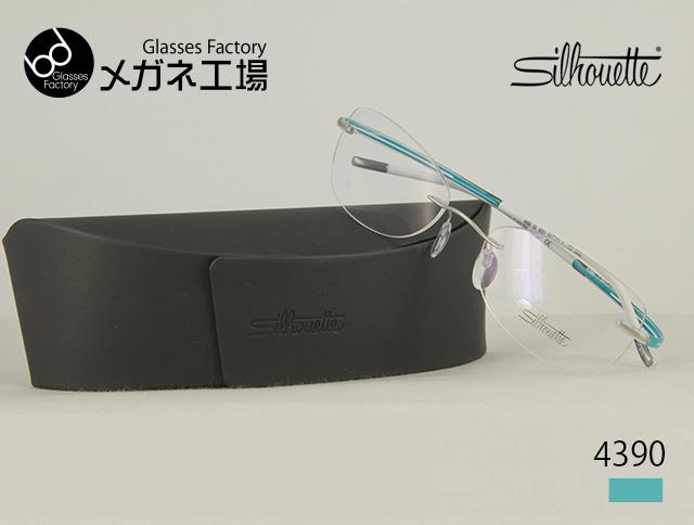 Silhouette(シルエット)-titan collection- 4390 ふちなし メガネ 度付き レディース メンズ めがね リムレス おしゃれ 眼鏡 鼻パッド ズレ防止 チタンフレーム ツーポイント 縁なし パソコン眼鏡 PCメガネ ブルーライトカット メガネ 度入り 度なし 伊達メガネ ブランド