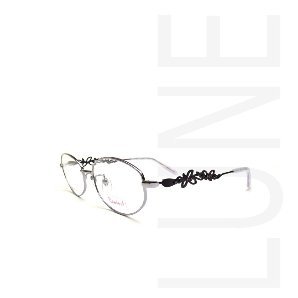 送料無料 メガネ RAPHAEL4513 COL PU 婦人用メガネ メガネ度付き 伊達メガネ 度なしめがね 眼鏡 ブルーライトカット 軽い 布ケース