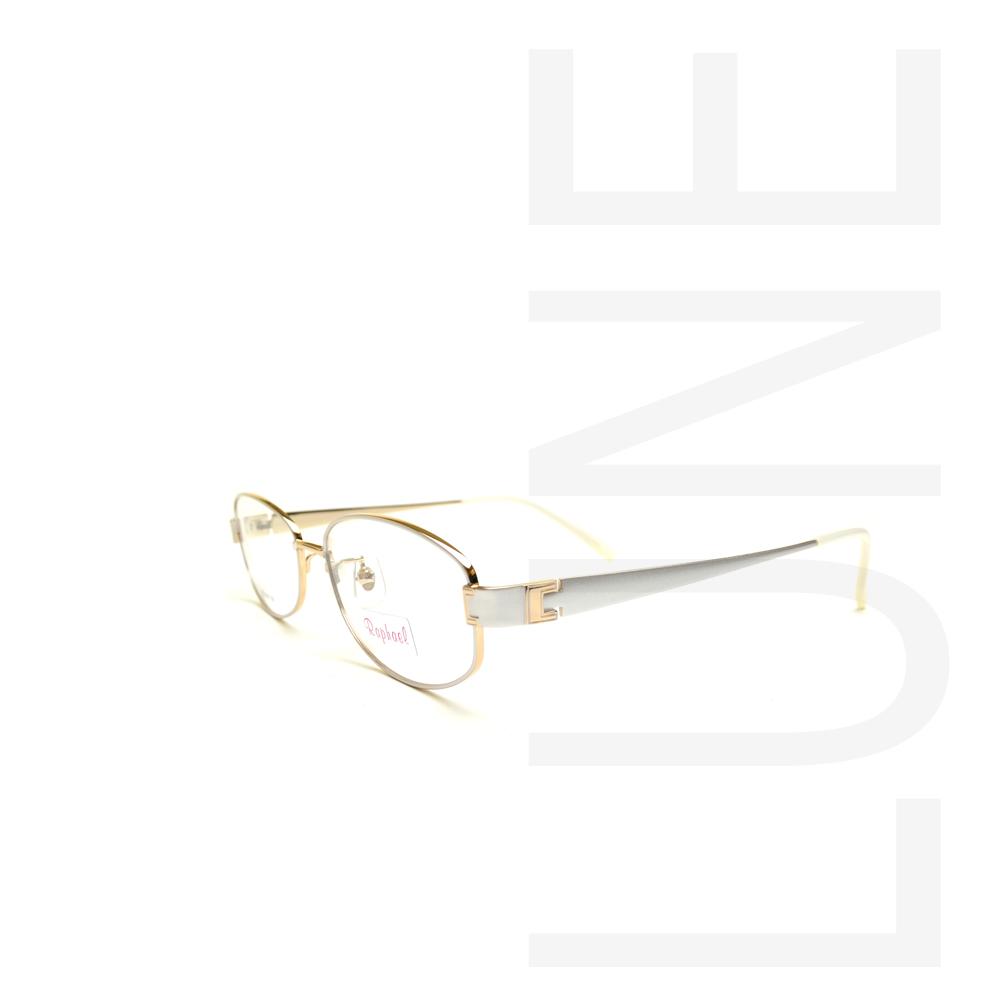 送料無料 メガネ RAPHAEL1813 COL1 婦人用メガネ メガネ度付き 伊達メガネ 度なしめがね 眼鏡 ブルーライトカット 軽い 布ケース